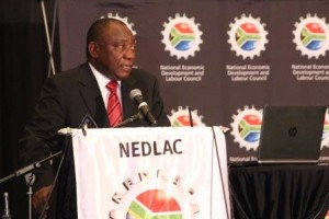 The Nedlac Annual Summit is chaired by Deputy President Cyril Ramaphosa